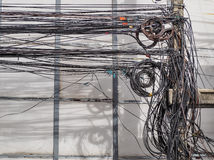 The chaos of cables and wires Royalty Free Stock Photos