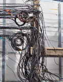 The chaos of cables and wires Stock Image