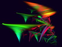 Chaos color twister rays. Abstract color turning twisters rays on dark background Vector Illustration