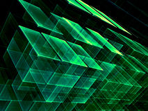 Chaos cubes - abstract digitally generated image Stock Photo