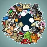 Chaos dans l'ordinateur illustration de vecteur