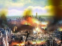 Chaos dans la ville photo stock