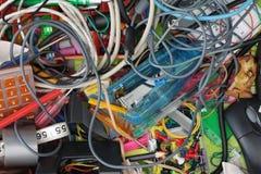 Chaos dans le tiroir de papeterie Images libres de droits
