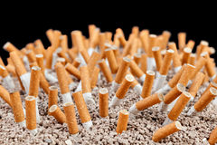 Chaos de cigarettes Images stock