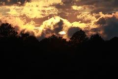 Chaos de coucher du soleil Images libres de droits