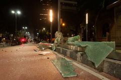 Chaos in de Straten van Rio de Janeiro Stock Foto