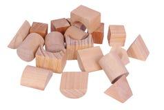 Chaos des blocs en bois Image stock