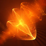 Chaos fire rays. Chaos fire flame rays on dark background Stock Images
