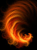 Chaos flame. Abstract magic chaos flame on black background Stock Photography