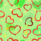 Chaos of the hearts. Royalty Free Stock Images