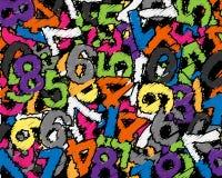 chaos liczby ilustracja wektor