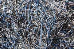 Chaos of network cables Stock Photos