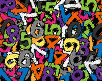 Chaos of numbers. Lot of numbers and lot of colours Stock Photography