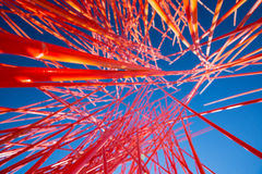 Chaos orange abstrait dans la perspective Photos stock