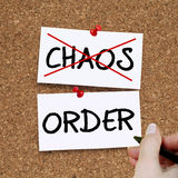 Chaos Order. No chaos yes order concept Stock Photography