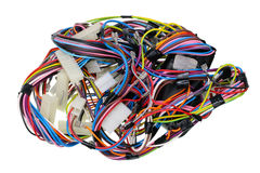 Chaos of power wires Stock Images