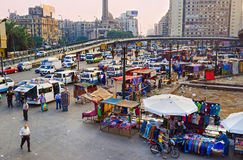 The chaos on the Ramses Square stock image