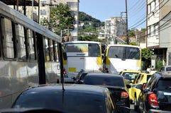 Chaos in Rio de Janeiro Stockfotos