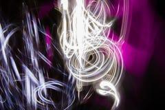 Chaos - Rozjarzony abstrakt wyginać się linie Obraz Royalty Free