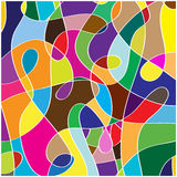 Chaos shapes and colors background Royalty Free Stock Photo