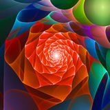 Chaos space flower. Abstract bright red chaos space flower background Stock Photos
