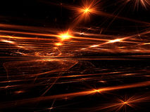 Chaos stars fractal background - abstract digitally generated im Stock Photography