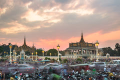 Chaos in the streets of Phnom Penh Royalty Free Stock Photography