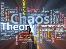Chaos theory word cloud glowing Royalty Free Stock Photo