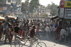 Chaos Traffic of India Royalty Free Stock Image
