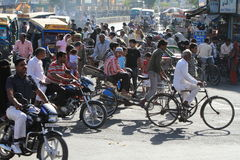 Chaos Traffic of India Royalty Free Stock Photos