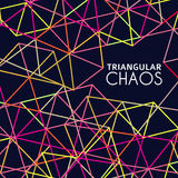 Chaos triangulaire Photographie stock