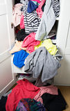 Chaos in wardrobe Stock Photography