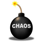 Chaos Warning Means Safety Bomb And Dangerous Royalty Free Stock Images