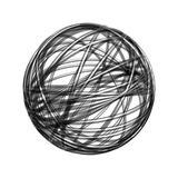 Chaos wire ball. Isolated on white background Stock Photography