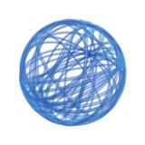 Ball of wire or string. Abstract illustration of blue ball of wire or string, white background Royalty Free Stock Images