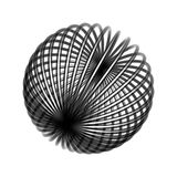 Chaos wire ball. Isolated on white background Royalty Free Stock Photography