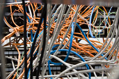 Chaos from wires and contacts Royalty Free Stock Images