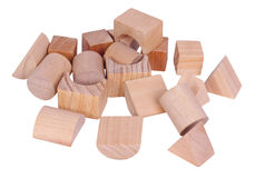Chaos of wooden blocks Stock Image