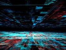 Chaoslijnen - abstract digitaal geproduceerd beeld Royalty-vrije Stock Afbeelding