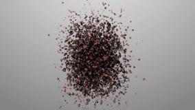 Chaospartikel Roy-Insekt, Schwarm Die chaotische Bewegung der Atome stock abbildung