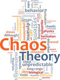 Chaostheorie-Wortwolke Stockfoto