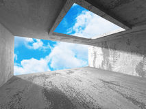 Chaotic Abstract Construction. Architecture Sky Background Royalty Free Stock Images