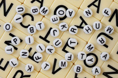 Chaotic alphabet background Royalty Free Stock Photography