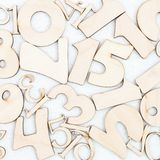 Chaotic background of numbers from zero to nine. Background with numbers. Textures of numbers royalty free stock images