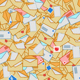 Chaotic background from post envelopes Stock Image