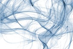 Chaotic Blue. Chaotic transparent blue abstract illustration Stock Photography