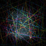 Chaotic blurred colorful lines pattern on dark background Stock Photo