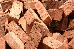 Chaotic bricks background Royalty Free Stock Photography