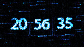 Chaotic change the clock. The countdown on the computer screen. The countdown on the computer screen. Chaotic change the clock Stock Image