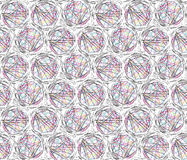 Chaotic Circles Lines Modern Seamless Background Stock Images